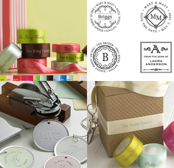 Personalizing: Embossers/ Stamps and Ribbons