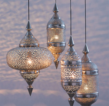 Moroccan garden lights