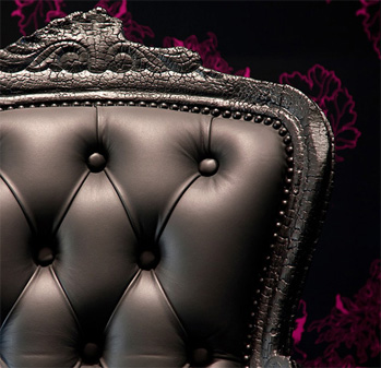 black smoke chair