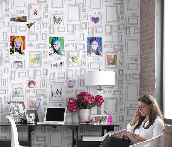 Frames Wallpaper by Taylor and Woods