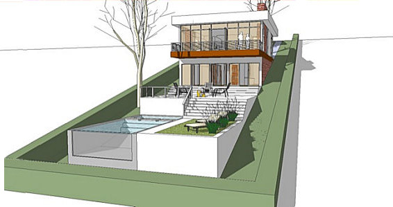 A home built on a slope interior design inspiration for House plans sloped lot