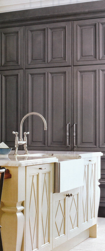 Pewter Pantry with Ivory Island