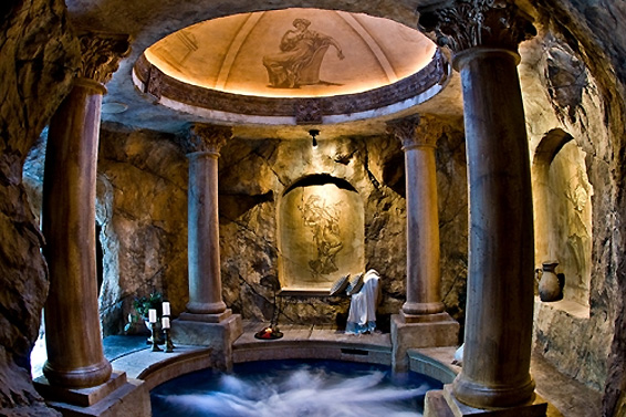 Beautiful and mysterious grottos for Pool design utah
