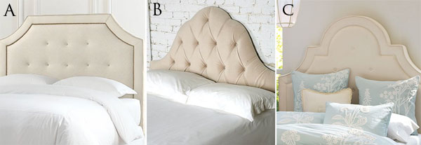 High to Low Upholstered Headboard
