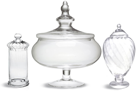apothecary Jars assorted