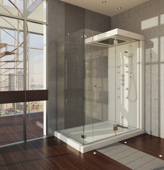 Maax Urban Corner Glass Shower Rainmax