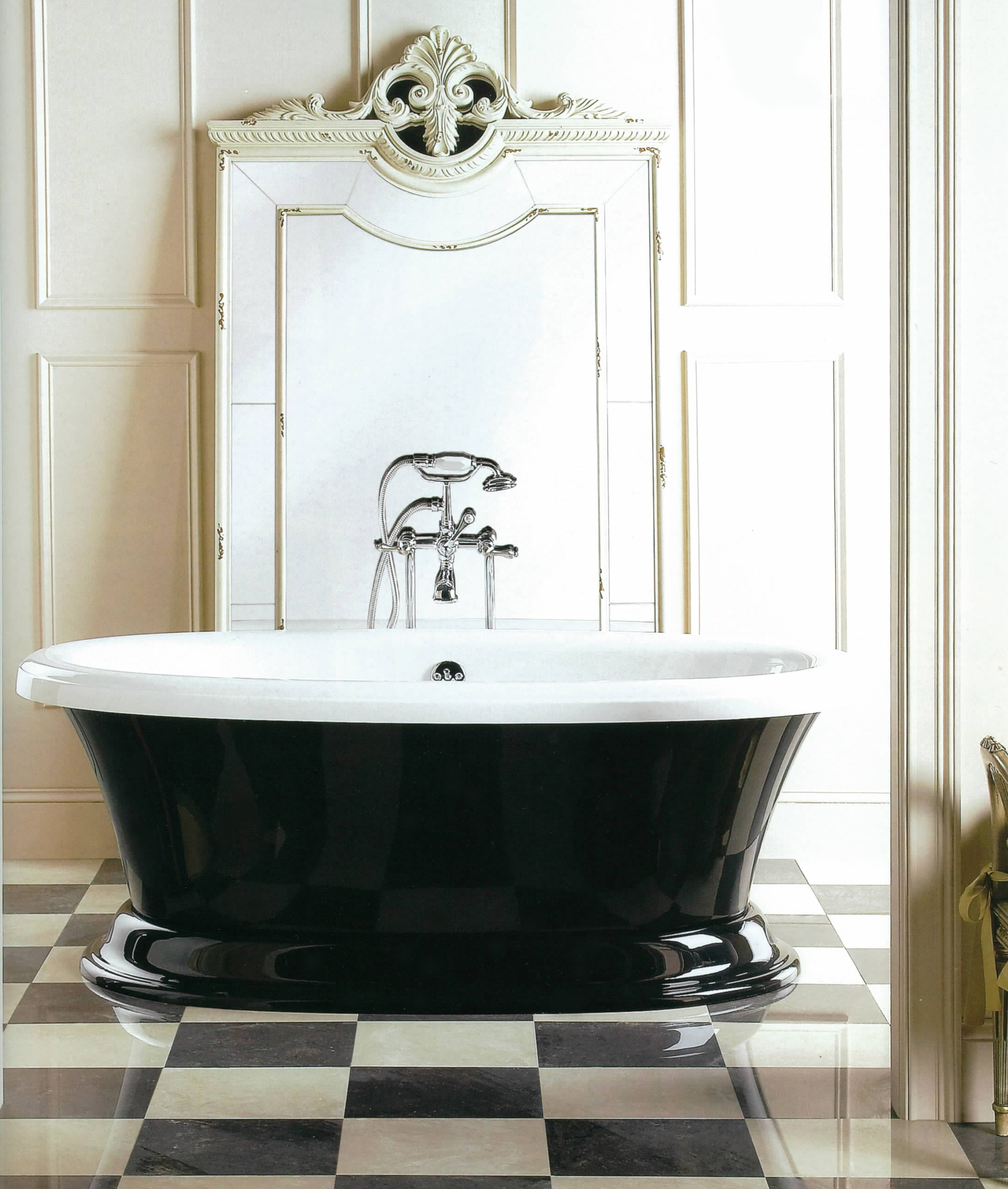 Aquatic Serenity 11 Freestanding Bath Tub Black and White Aquatic
