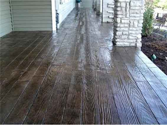Stamped Concrete Patio Looks Like Wood : Wood stamped concrete interior design inspiration eva
