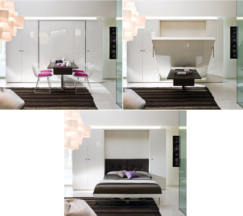 Furniture Transformers on Pinterest Murphy Beds  : ulissediningbed from www.pinterest.com size 934 x 830 jpeg 93kB
