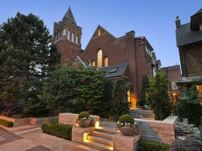 exterior lighting nightscaping church house toronto