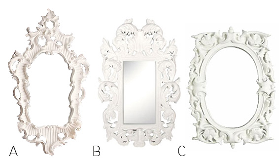 high to low white painted mirrors interior design inspiration eva designs - Mirror With White Frame