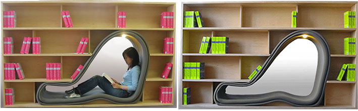 Cave bookshelf for Fun Library Bookshelf Chair