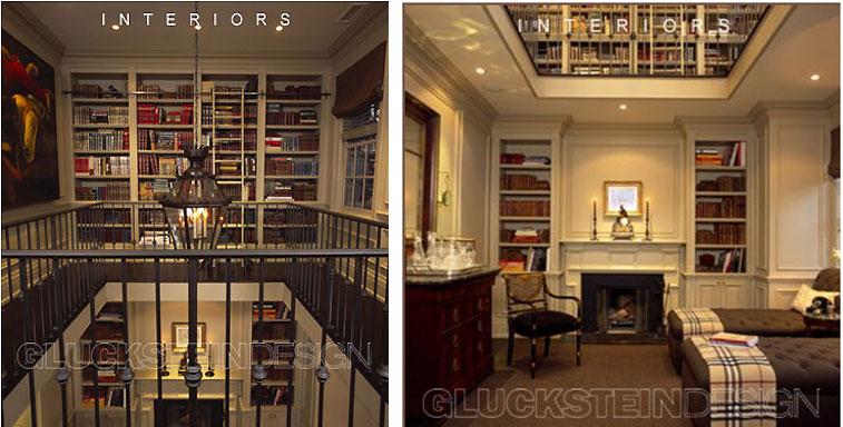 Brian Gluckstein Home Library 2-Storey