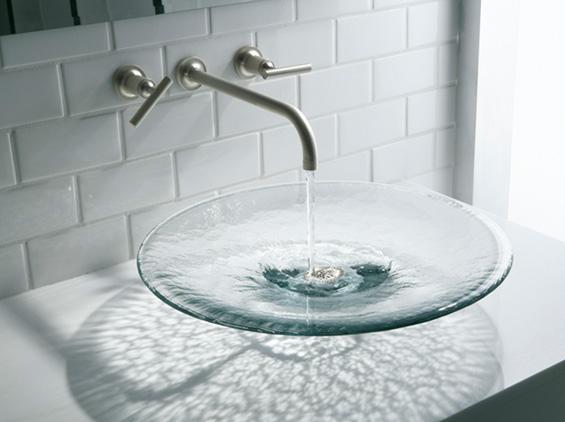 Lavinia Glass Vessel Basin by Kohler