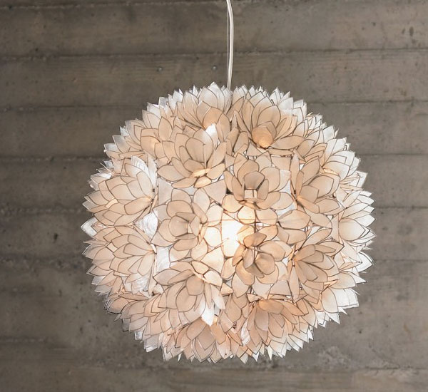 lotus flower chandelier capiz shells