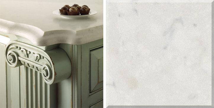 Misty Carrera Quartz White Marble Countertop
