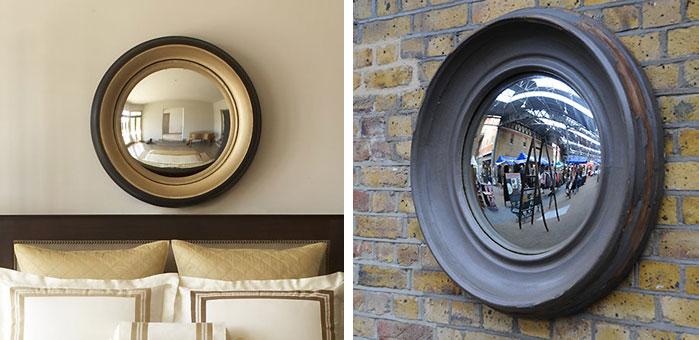 Portal mirror interior design inspiration eva designs for Restoration hardware round mirror