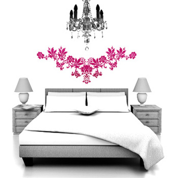 Floral Flock Sticky Up Wall Stickers for Wall Decor