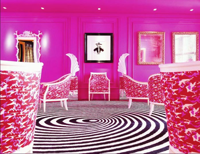 the g Hotel Pink Salon by Treacy