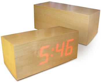 Minimalist Wooded LED Clock