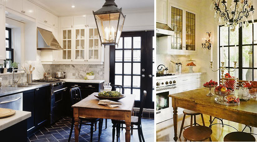 Black And White Heritage Kitchen