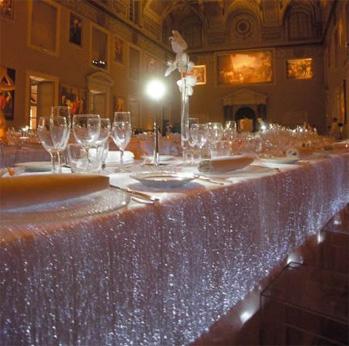 fiber optic tablecloth