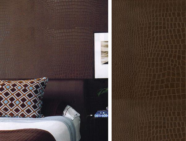 Embossed Crocodile Wall Covering Interior Design Inspiration Eva Designs