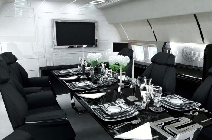 versace jet interiors