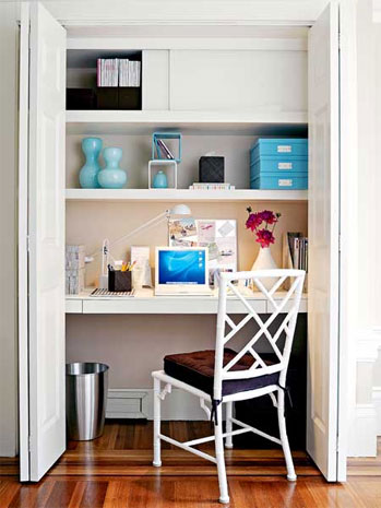 Desk Home Office in Closet Space