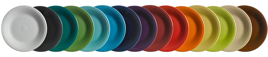 fiesta plates and colors