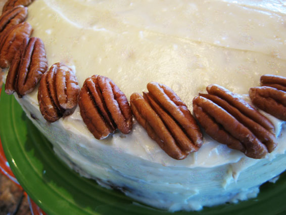 Carrot Cake with cream Cheese Icing Done