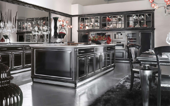 Brummel Cusini Custom kitchens Grand Gourmet R Black Kitchen