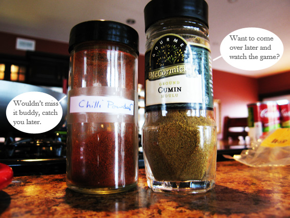 cumin and chilli powder