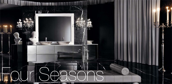 Four Seasons Bathroom black and White by Milldue Italian