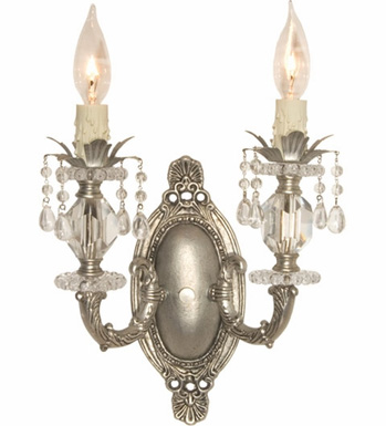 silver double sconce