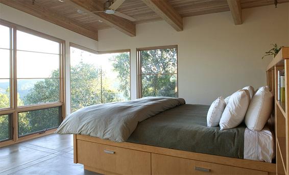 House Ocho house on slope bedroom