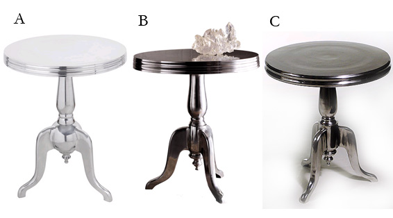 Aluminum Side Table Accent End Table Chrome
