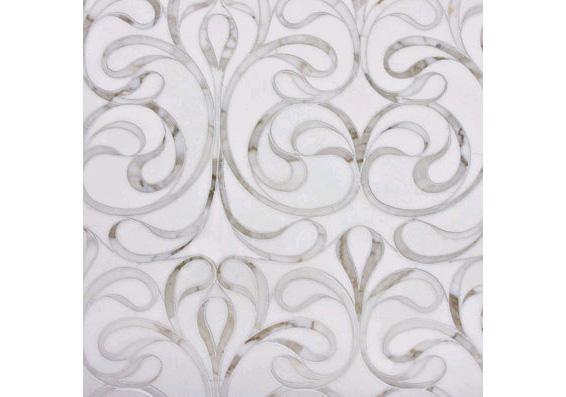 Artictic Tile Chateau Danse Blanc Marble Tile Mosaic