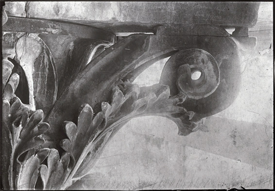 Corinthian Column with Acanthus leaf and Volute Detail from Forum of Agustus Temple of Mars the Avenger