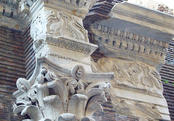 Temple of Neptune addorsed dolphin frieze corinthian column