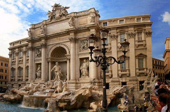 corinthian columns fontana di trevi