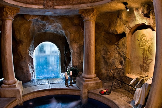 incredible fire and water pool with hidden grotto utah