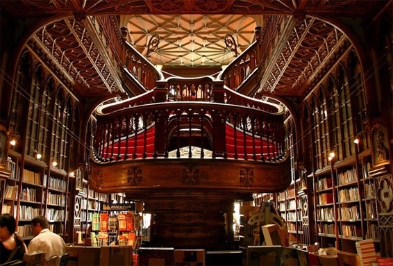 Lello Bookstore grand staircase interesting shape