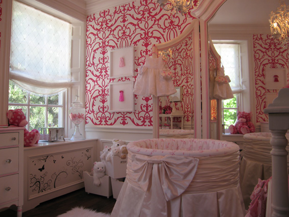 Pink and White Nursery Junior League of Toronto Showhouse 2009