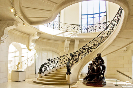 petit palais staircase grand stairs metal railing