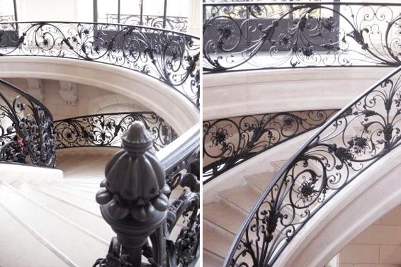 petit palais details staircase