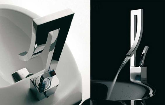 Bandini faucet Modern Seta chrome Rectangle Shape Square