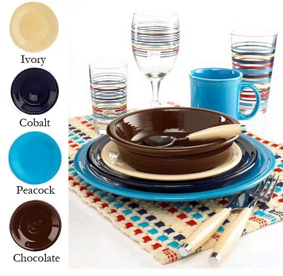 Fiesta Dinnerware Chocolate Combination Colors