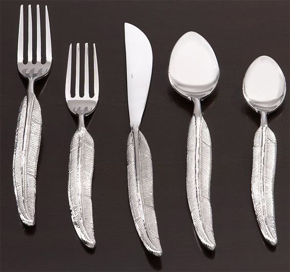 Quill Flatware by Pottery Barn Feather