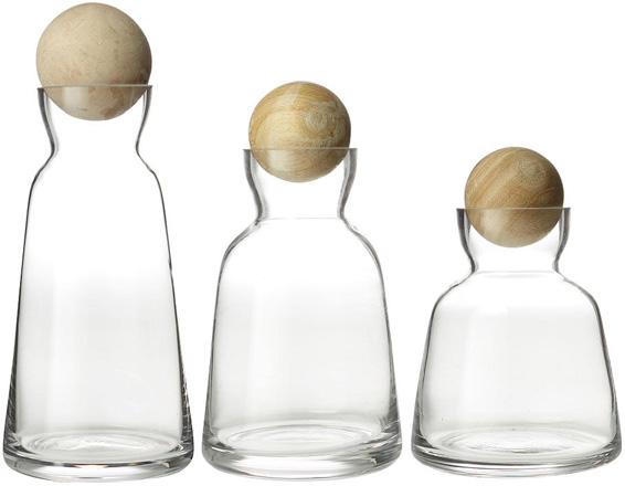 Anthropologie Edda Carafes glass & wood
